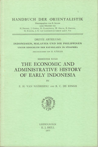 The Economic and Administrative History of Early Indonesia. F. H. AND DE IONGH VAN NAERSSEN, R. C.