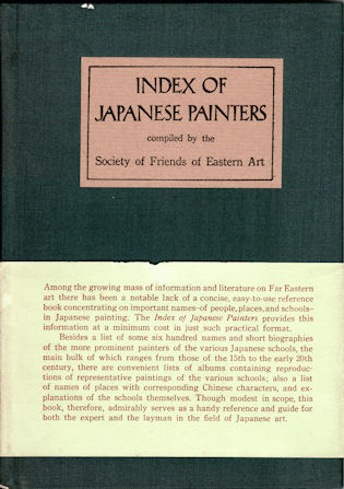 Index of Japanese Painters by SOCIETY OF FRIENDS OF EASTERN ART on Asia  Bookroom
