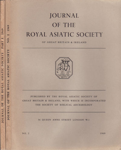 Journal of the Royal Asiatic Society of Great Britain and Ireland. 1969. R. E. ASHER, L. A. WICKREMERATNE, C. A. MACARTNEY.