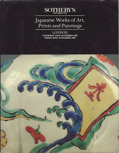 Japanese Works of Art, Prints and Paintings. SOTHEBY'S AUCTION CATALOGUE.