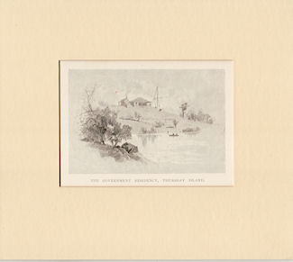 The Government Residency, Thursday Island. Antique Print.