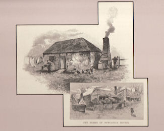 The House of Newcastle Miners. Antique Print.