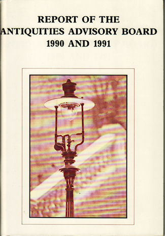 Report of the Antiquities Advisory Board 1990 and 1991. ANTIQUITIES AND MONUMENTS OFFICE.