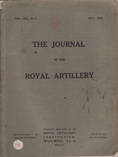 Article in The Journal of the Royal Artillery. SIR JOHN HEADLAM.
