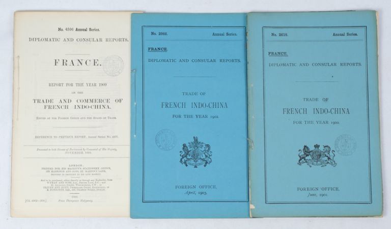Trade of French Indo-China. FRENCH INDO-CHINA TRADE EARLY TWENTIETH CENTURY REPORTS.