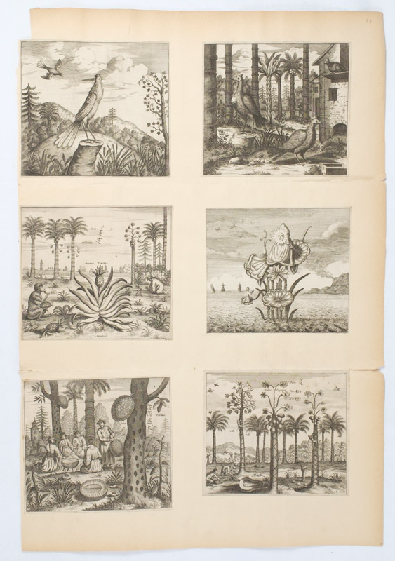 Collection of Six Small Engravings from Nieuhoff's An Embassy from the East India Company... to... China. CHINA - ENGRAVINGS.