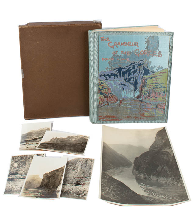 The Grandeur of the Gorges. Fifty Photographic Studies, With Descriptive Notes, of China's Great Waterway, The Yangtze Kiang, Including Twelve Hand-Coloured Prints. DONALD MENNIE, FROM.