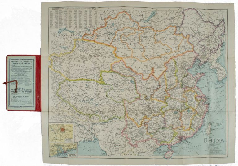 China. Philips' Travelling Maps [Cover Title]. LINEN BACKED MAP OF CHINA.
