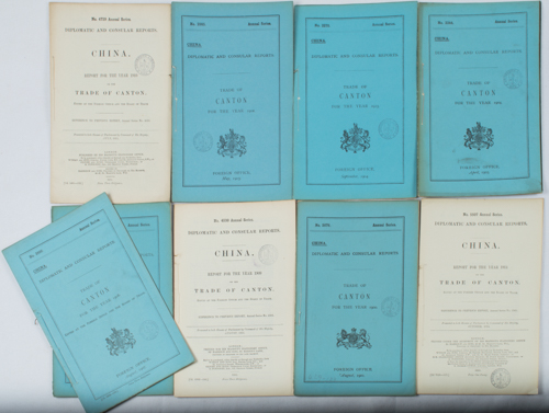 Collection of Trade of Canton Reports. CONSUL-GENERAL SCOTT.