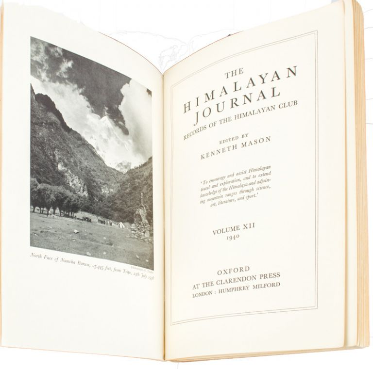 The Himalayan Journal. Records of the Himalayan Club. KENNETH MASON.