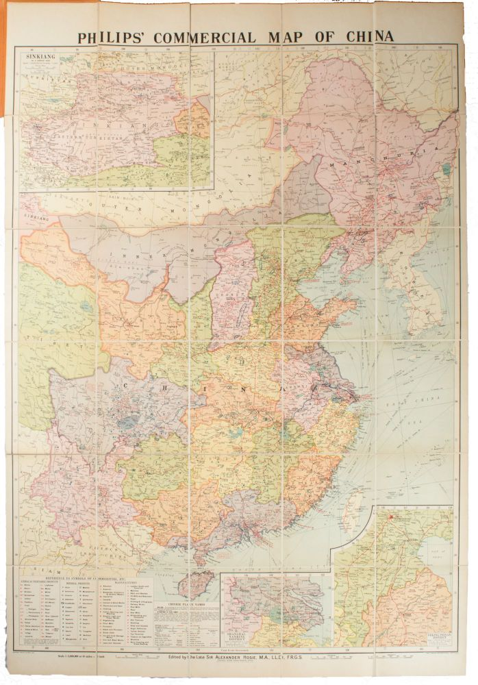 Philips' Commercial Map of China. SIR ALEXANDER HOSIE.