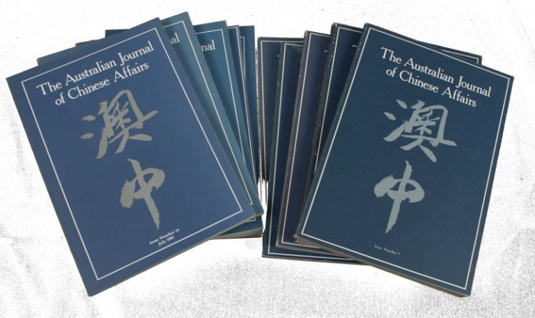 The Australian Journal of Chinese Affairs. Issue no.7-10, 12, 14-18 (1982: January - 1987: July). 澳中. [Ao Zhong]. AUSTRALIAN NATIONAL UNIVERSITY CONTEMPORARY CHINA CENTRE.