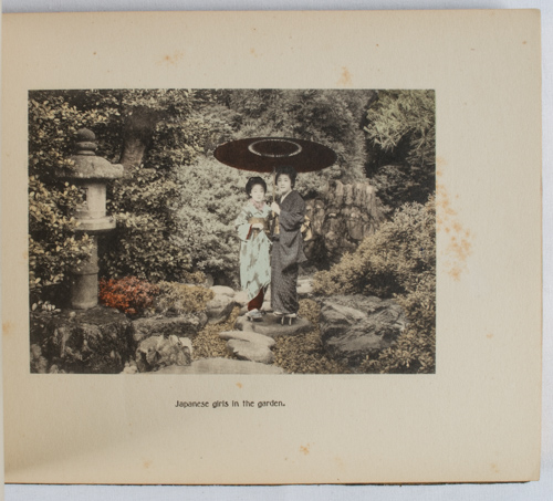 Japanese Views and Characters. ALBUM OF JAPANESE HANDCOLOURED VIEWS.