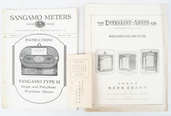 [Japanese Trade Catalogues on Electric Current Meters].