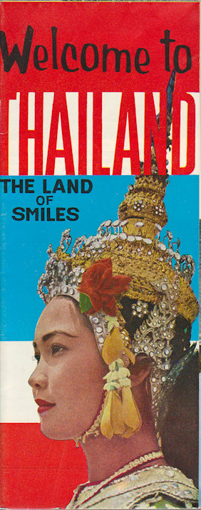 Welcome to Thailand. The Land of Smiles. 1960S FOLDING TOURISM PAMPHLET.