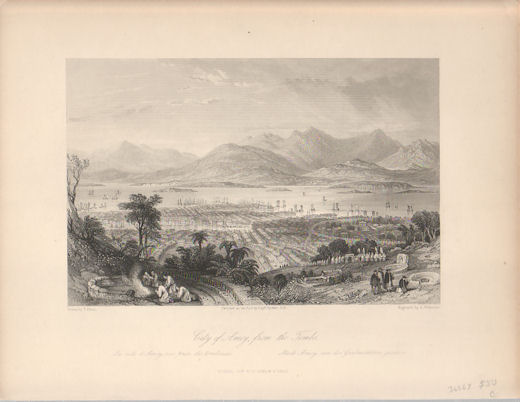 City of Amoy, from the Tombs. [China Antique Print]. THOMAS ALLOM.
