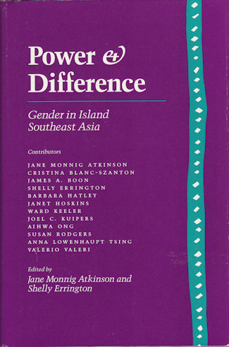 Power and Difference. Gender in Island Southeast Asia. JANE MONNIG AND ERRINGTON ATKINSON, SHELLY.