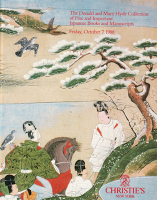 The Donald and Mary Hyde Collection of Fine and Important Japanese Books and Manuscripts. CHRISTIE'S AUCTION CATALOGUE.