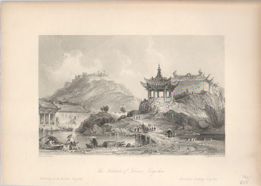 The Fortress of Terror, Ting-hai. [China Antique Print]. THOMAS ALLOM.