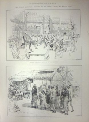 The Burmah Expedition: Sketches By Our Special Artist, Mr. Melton Prior. ANTIQUE WOOD ENGRAVING -...