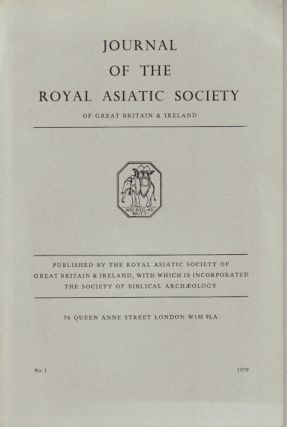 Journal of the Royal Asiatic Society of Great Britain and Ireland. 1979. JOHN ANDREW BOYLE, B. J....