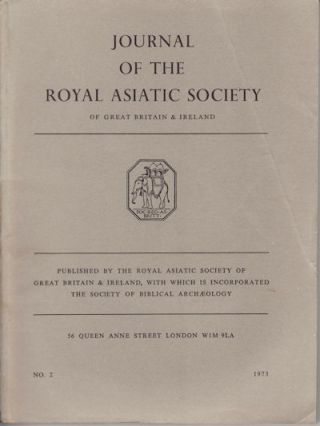 Journal of the Royal Asiatic Society of Great Britain and Ireland. 1973. JOHN JAMES, B. G....