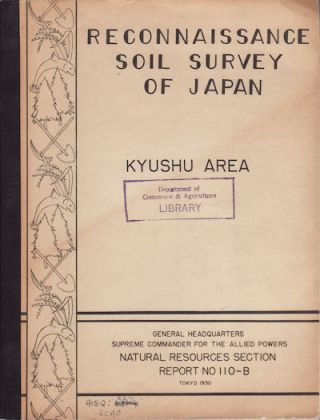 Reconnaissance Soil Survey of Japan. Kyushu. ROBERT E. O'BRIEN, E. J. KOHLER