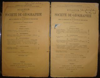 Bulletin de la Societe de Geographie. Tonkin Expedition and le Fleuve Rouge. F. ROMANET DU CAILLAUD