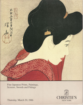 Fine Japanese Prints, Paintings, Screens, Swords and Fittings. CHRISTIE'S AUCTION CATALOGUE.