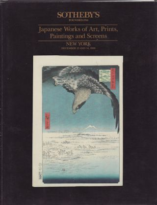 Japanese Works of Art, Prints, Paintings and Screens. SOTHEBY'S AUCTION CATALOGUE.