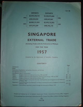Singapore External Trade (Excluding Trade with the Federation of Malaya) for the Year 1957....