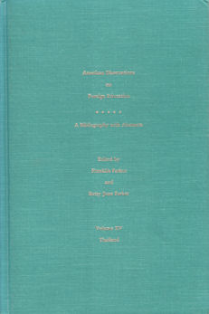 American Dissertations on Foreign Education. A Bibliography with Abstracts. Volume XV. ...