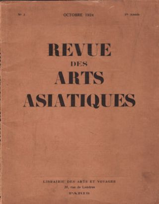 Revue Des Arts Asiatiques. FRENCH LANGUAGE 1920S ASIAN ART JOURNAL
