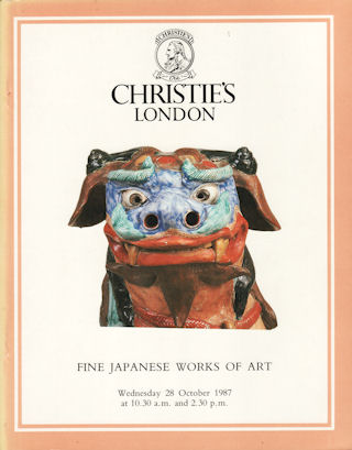 Japanese Works of Art. Japanese Inro, Lacquer, Ceramics, Cloisonne Enamel, Shibayama, Bronzes, Okimono, Prints, Paintings, Illustrated Books, Screens, Swords and Sword Fittings. MANSON CHRISTIE, WOODS.