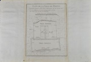 Plan De la Ville De Peking. JACQUES-NICOLAS BELLIN, CARTOGRAPHER