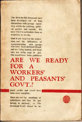 Are We Ready for A Workers' and Peasants' Govt.? GAMINI GUNAWARDENE