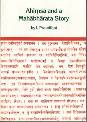 Ahimsa and a Mahabharata Story. The Development of the Story of Tuladhara in the Mahabharata in...