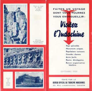 Visitez l'Indochine. INDOCHINA - TRAVEL EPHEMERA.