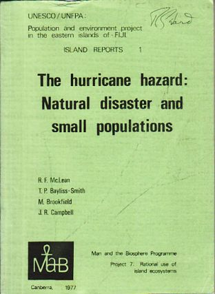 The hurricane hazard: Natural disaster and small populations. ROGER MCLEAN