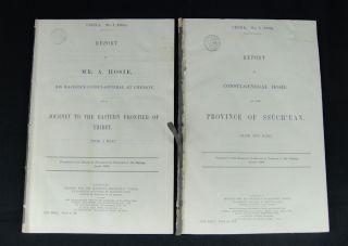 Five Reports on Western China by Consul-General (later Sir) Alexander Hosie.