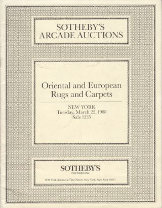 Oriental and European Rugs and Carpets. EXHIBITION CATALOGUE