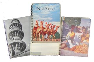 Three Indian Desk Diaries]. India 1957; India 1969; India 1963. PHOTOGRAPHIC IMAGES OF INDIA...