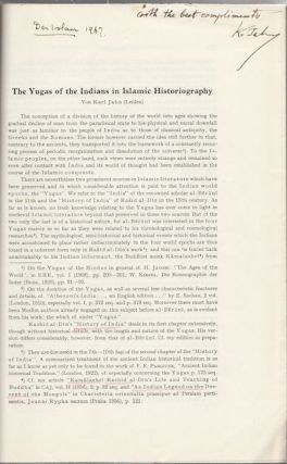 The Yugas of the Indians in Islamic Historiography. VON KARL JAHN