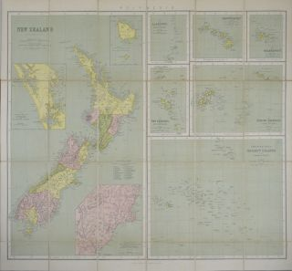 New Zealand. Philips's Series of Travelling Maps. [Polynesia - Sheet title]. J. BARTHOLOMEW