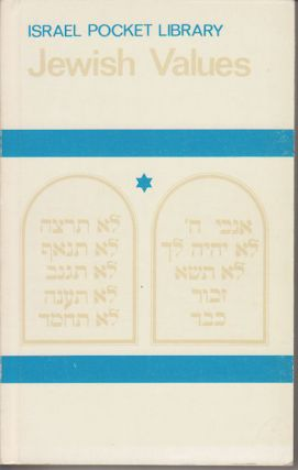 Jewish Values. ISRAEL POCKET LIBRARY