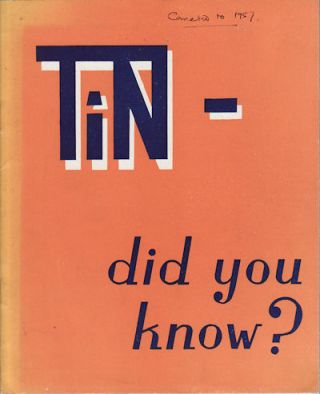 Tin - Did You Know? PUBLICITY MANAGEMENT COMMITTEE
