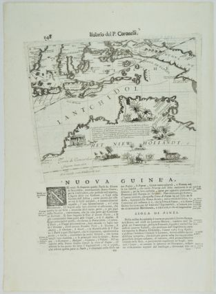 Nuova Guinea. Het Niew Hollandt. [Map of Northern Australia, Borneo, Indonesia and New Guinea]. VICENZO MARIA CORONELLI.
