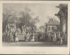 "Ceremony of ""Meeting the Spring"". [China Antique Print]. THOMAS ALLOM"