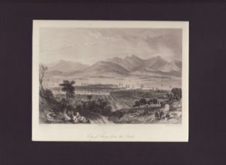 City of Amoy, from the Tombs. [China Antique Print]. THOMAS ALLOM