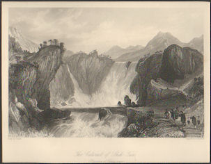 The Cataract of Shih-Tan. (Province of Kiang-nam). THOMAS ALLOM